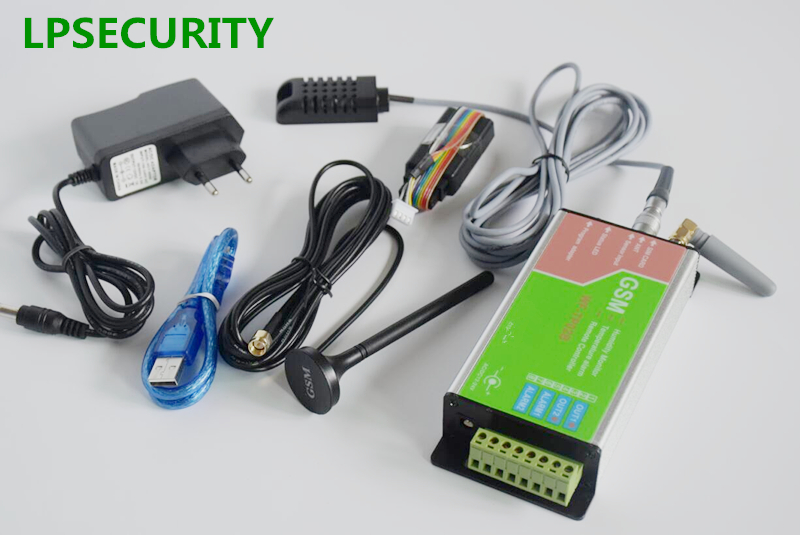 LPSECURITY GSM Temperature And Humidity Alarm Module Board Controller Device Log Report With 3m Cable Sensor Detector