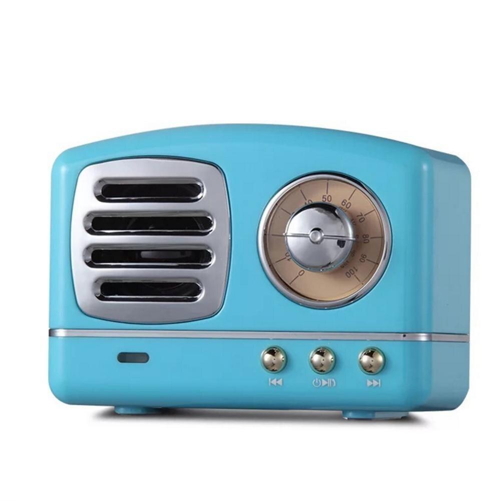 Retro Bluetooth Lautsprecher Vintage Mini Bluetooth Lautsprecher Nostalgischen Schwere Bass 3D Stereo Surround HiFi Sound Effekte TF USB AUX