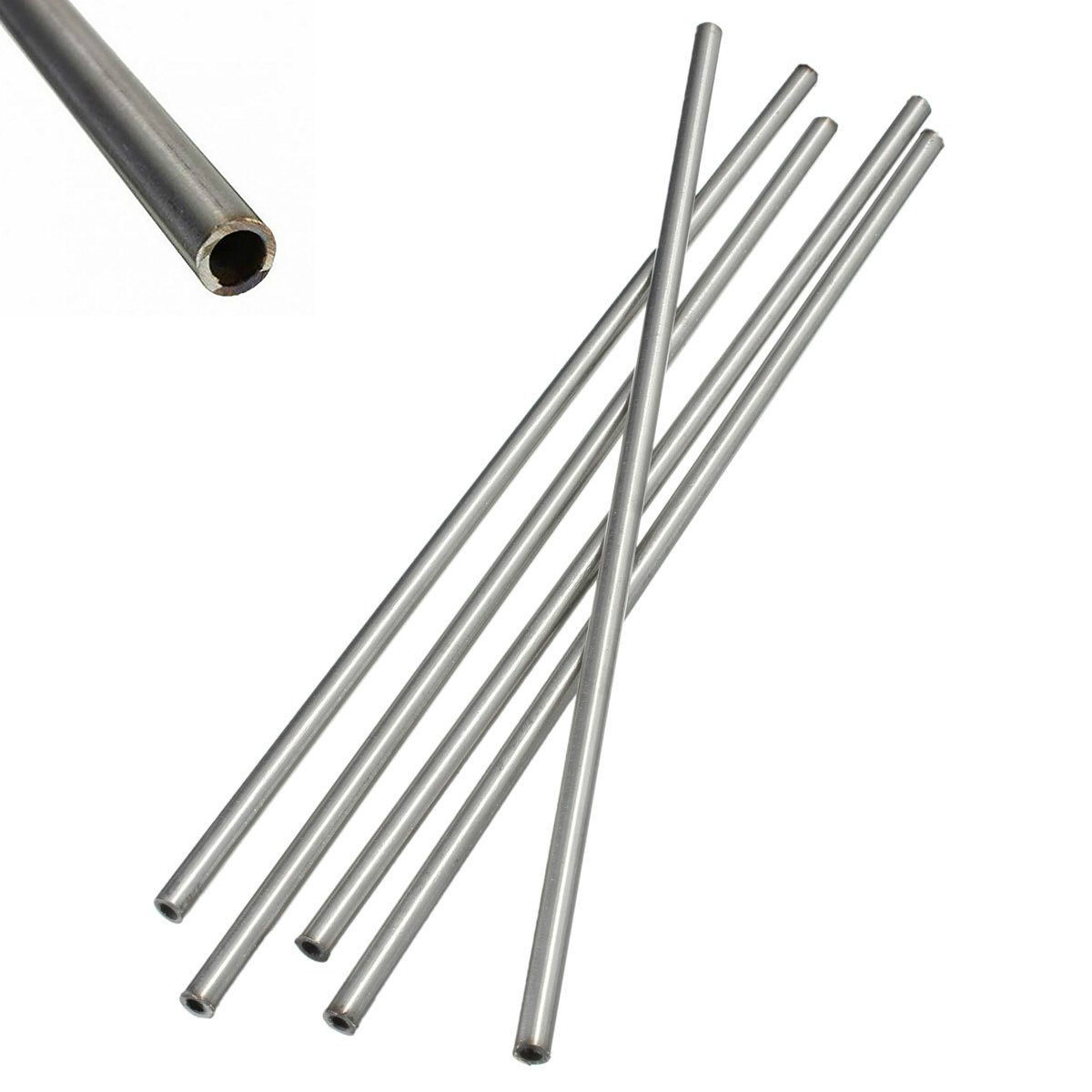 CynKen 1pcs OD 10mm x 5mm ID Stainless Pipe 304 Stainless Steel Capillary Tube Length 700mm