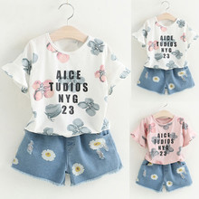 Girls Clothing Set NEW Baby Girl Clothes Toddler tops + Pants Suit Kids