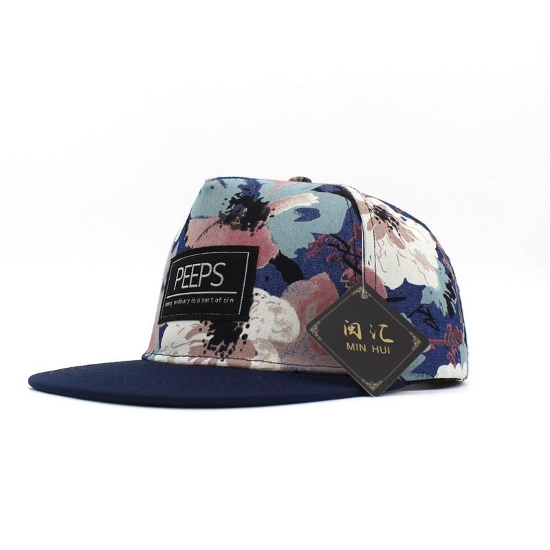 Minhui 2015 Moda e Re PEEPS Baseball Caps Snapback Flat Hat Brim - Aksesorë veshjesh - Foto 5