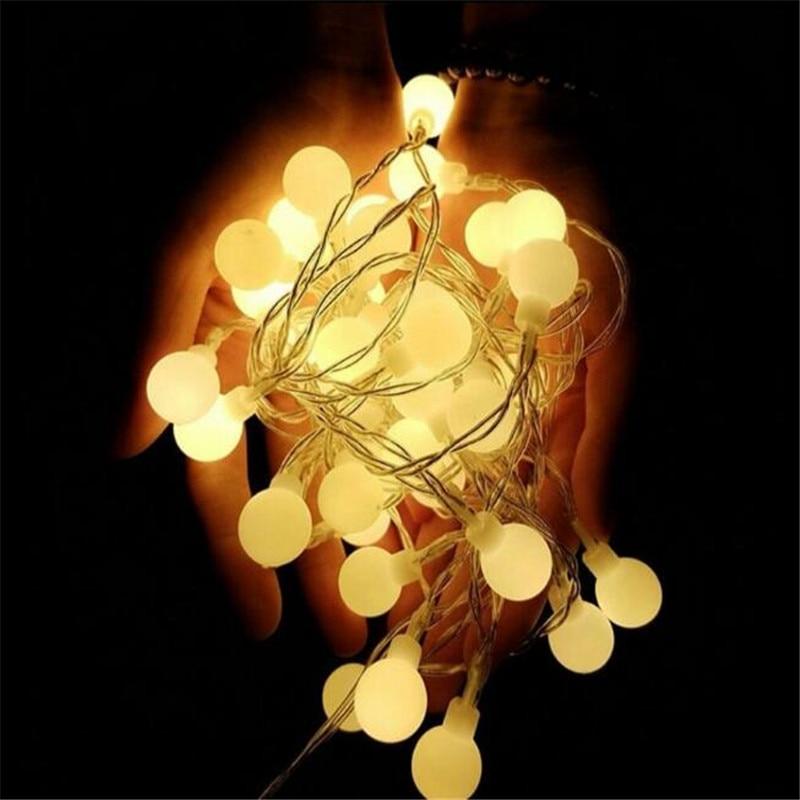 7,5 m 50 LED 110 V 220 V IP44 al aire libre Multicolor LED String luces de Navidad Holiday party decoración de la boda luces LED