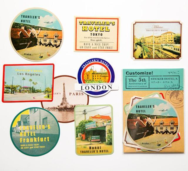 Aliexpress Buy Paris London Stamp Sticker Diy Vintage Retro
