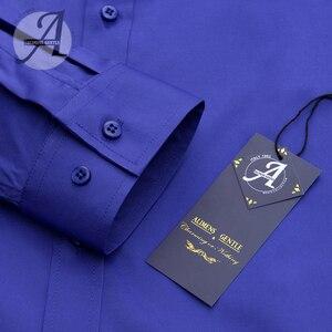 Image 4 - Alimens & עדין Mens במבוק סיבי טיפול קל שאינו ברזל ארוך שרוול שמלת חולצה בתוספת גודל 8XL 7XL 6XL צבע לבן שחור אדום סגול