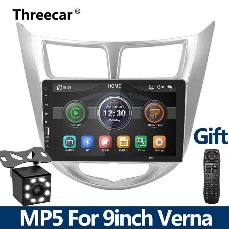 9 inch 2din Car DVD Radio Player MP5 multimedia Player For Hyundai Verna Solaris 2010 2015 mirrorlink iPhone Android car camera