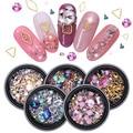 3D Стразы для ногтей, камни, кристаллы, Смешанные Красочные украшения для ногтевого дизайна, сделай сам, дизайн с изогнутым пинцетом для ногт...