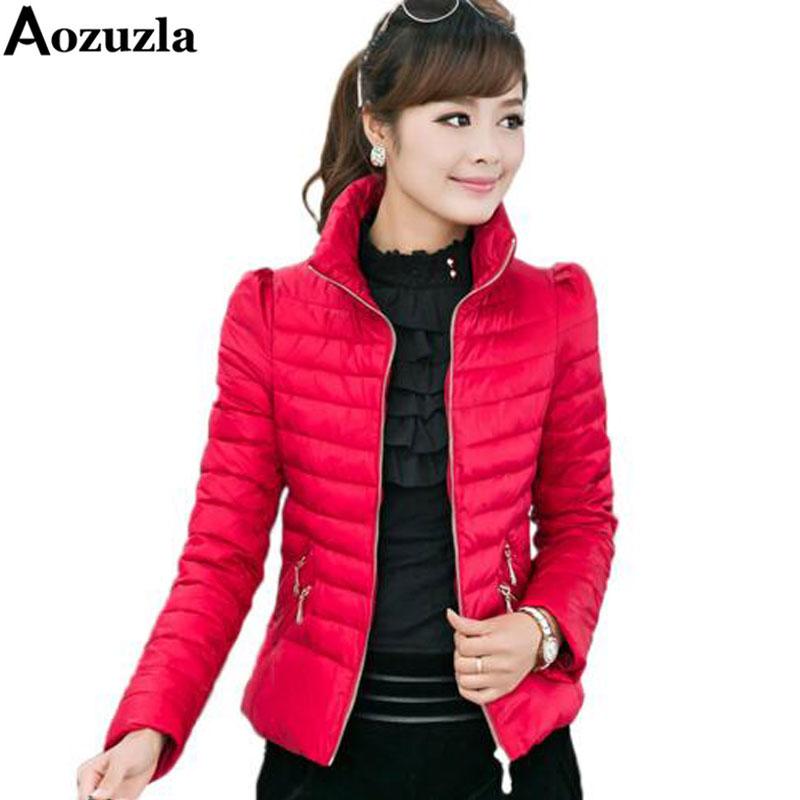 Down Jacket Winter Coat Women Parkas New 2018 Fashion Plus Size 3XL Cotton Padded Coat Stand Collar Thin Women Warm Jacket Y334