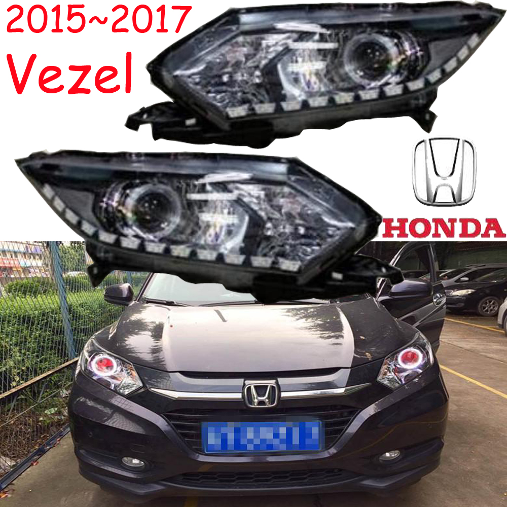 Vezel headlight,2015~2017(Fit for LHD,RHD),Free ship! Vezel daytime light,2ps/se+2pcs Ballast,crosstour,XRV,XR-V,CR-Z,Vezel crosstour headlight 2011 2014 free ship crosstour headlight 2ps se 2pcs ballast vezel city xrv