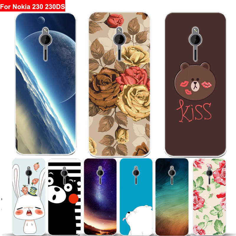 2.8inch For <font><b>Nokia</b></font> 230 <font><b>230DS</b></font> case cover star cartoon soft phone cases For <font><b>Nokia</b></font> 230 DS RM-1172 case cover shell back fundas image