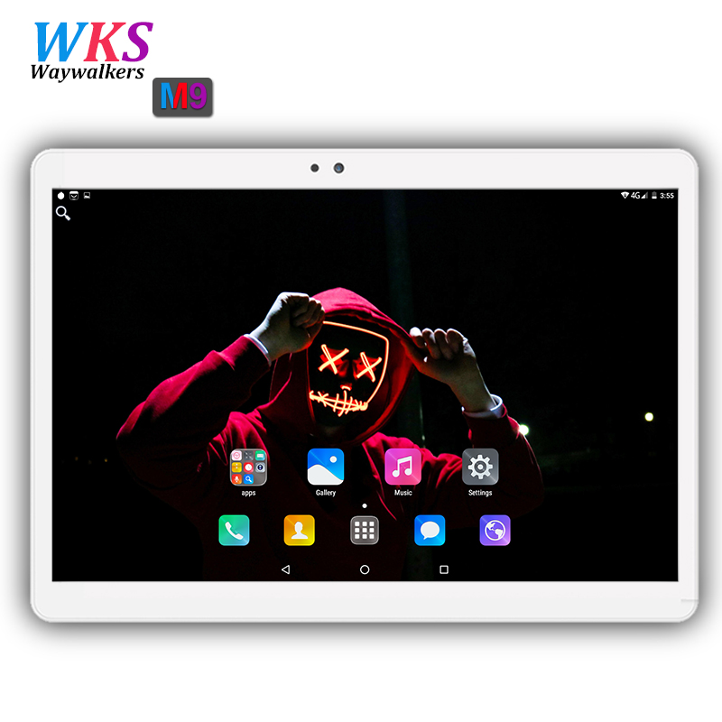 Free shipping 10 inch tablet pc Android 7.0 RAM 4GB ROM 64GB Dual SIM card wifi Bluetooth 3G Phone Smart tablets 1920*1200 IPS