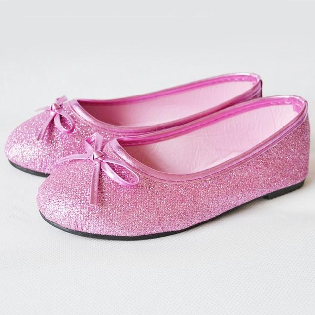 Ballerina Schoenen Kinderschoenen.Slip Op Kids Meisjes Balletschoenen 2017 Fashion Glitter Meisje Roze