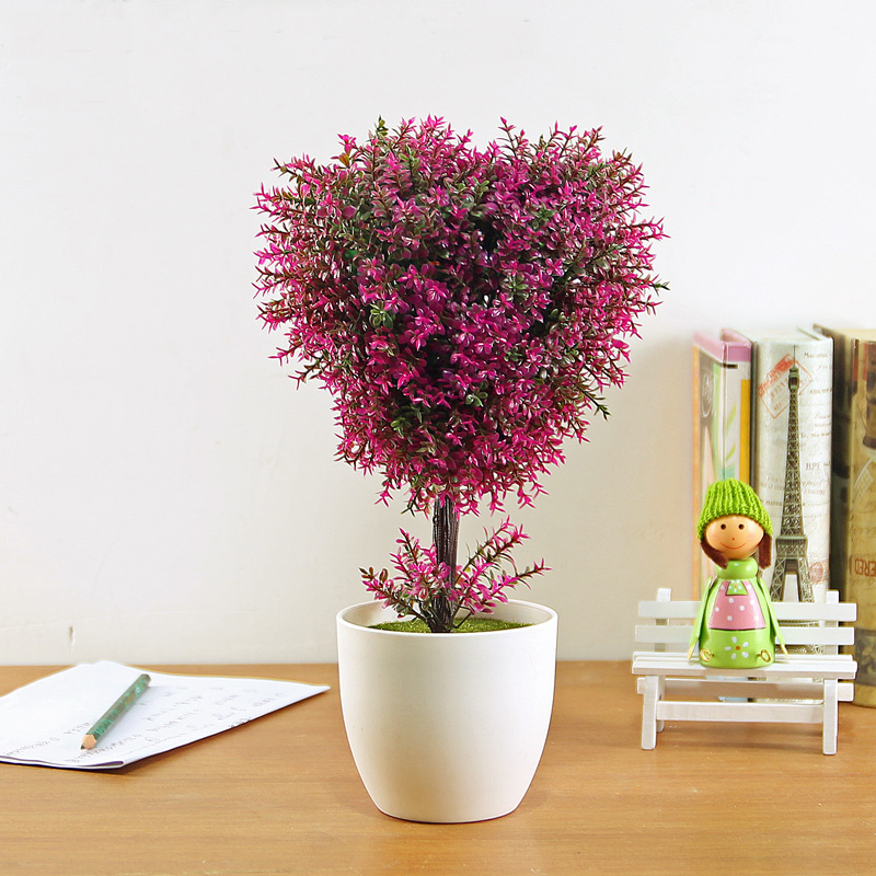 The Trees Potted Green Plants Artificial Flowers Decorative Pots Simulation Suite Decoration