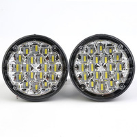 2pcs New Styling Waterproof 12V 18 LEDs Round Shape Auto Car Fog Lamp Driving Night Light