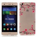 For Huawei P8 Lite Cover Crystal Clear Art Series Ultra Slim Soft TPU Rubber Protective Case for Huawei P8 Lite Accessories