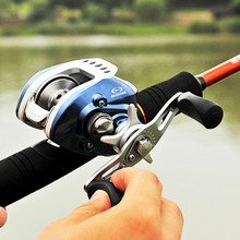 Sougayilang 10+1BB Fresh Salt Water Baitcasting Fishing Reel Stealth Super Light Carbon Body Fishing Lure Reels