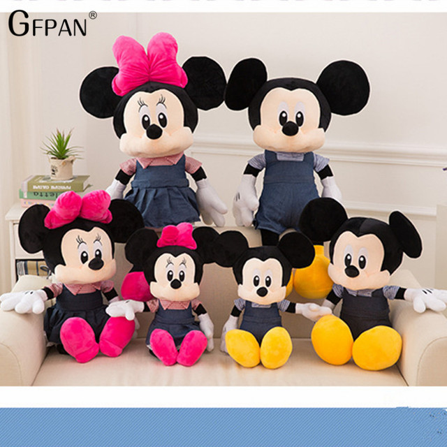 b5ccfb761d3 New 1pcs 65cm 50cm Hot Adorable Mickey Mouse  Minnie Mouse Stuffed Soft  Plush Toys High Quality Gifts Classic Toy For Children