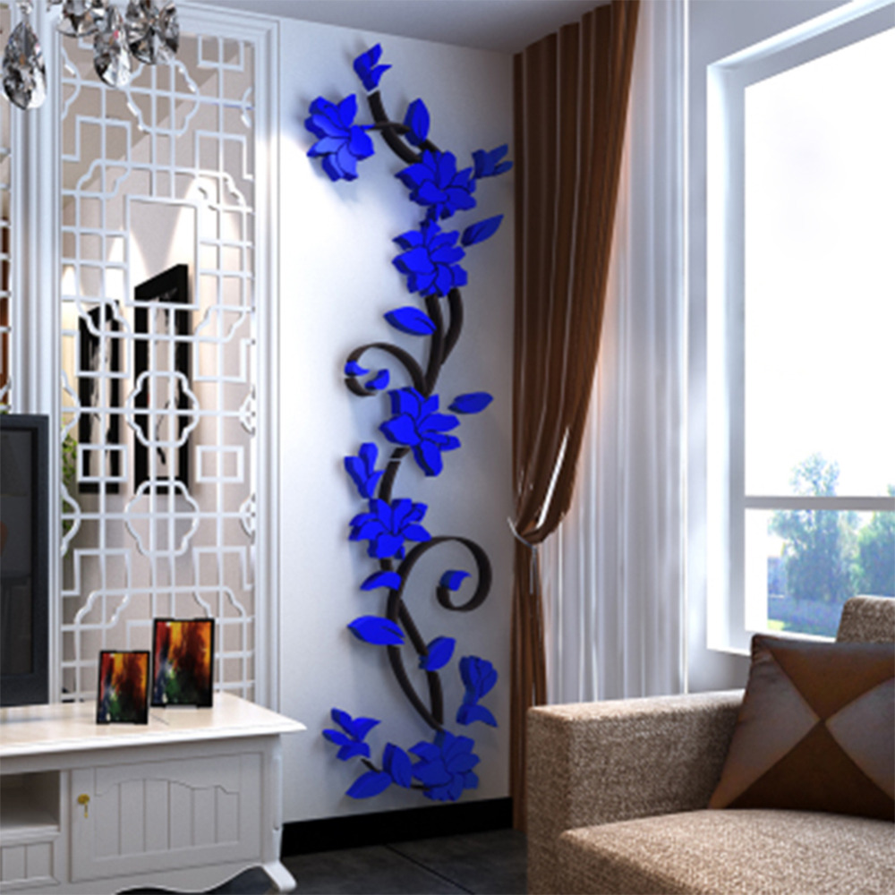 3d wall sticker fashion rose flower entranceway tv background wall 3d wall sticker fashion rose flower entranceway tv background wall modern decoration crystal three dimensional wall stickers l3 in wall stickers from home amipublicfo Image collections