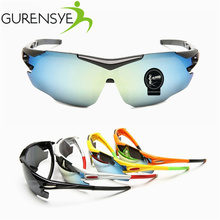 2017 Gurensye New Arrival Sports protective goggles Cycling glasses bicycle cyclist sunglasses MTB bike road glasses for men
