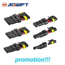 5kit 1/2/3/4/5/6 pin Way Waterproof Electrical Wire Connector wago lamp dupont Plug Terminals 282107-1 282089-1 282106-1