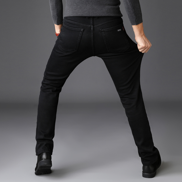 Brands Jeans Trousers Men Clothes 2018 New Black Elasticity Skinny Jeans Business Casual Male Denim Slim Pants Classic Style