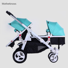 High quality baby Stroller Motherknows twins strollers combine and separate fast Prams with adjustable footrest