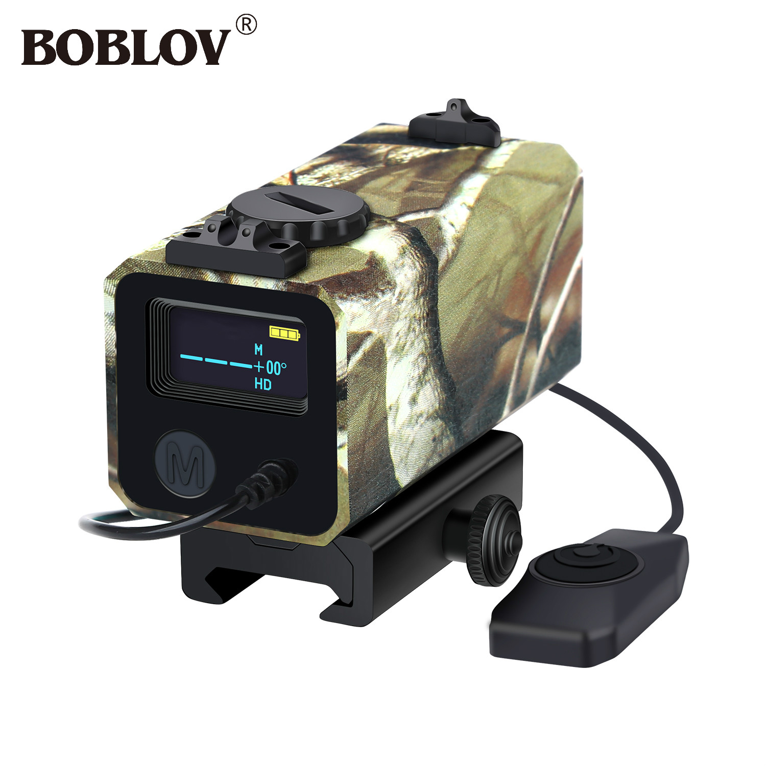 BOBLOV LE-032 700m Mini Tactical Outdoor Hunting Rangefinder Rifle Scope Sight Target Distance Meter with Rail Mount Lightweight