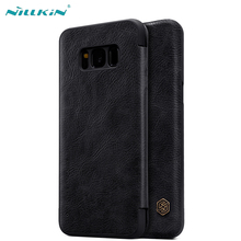 for Samsung Galaxy S8 Flip Leather Case Nillkin Qin Series Luxury Vintage PU Leather Case for Samsung S8 Plus Phone Covers nillkin qin leather case чехол для samsung galaxy s8 plus black