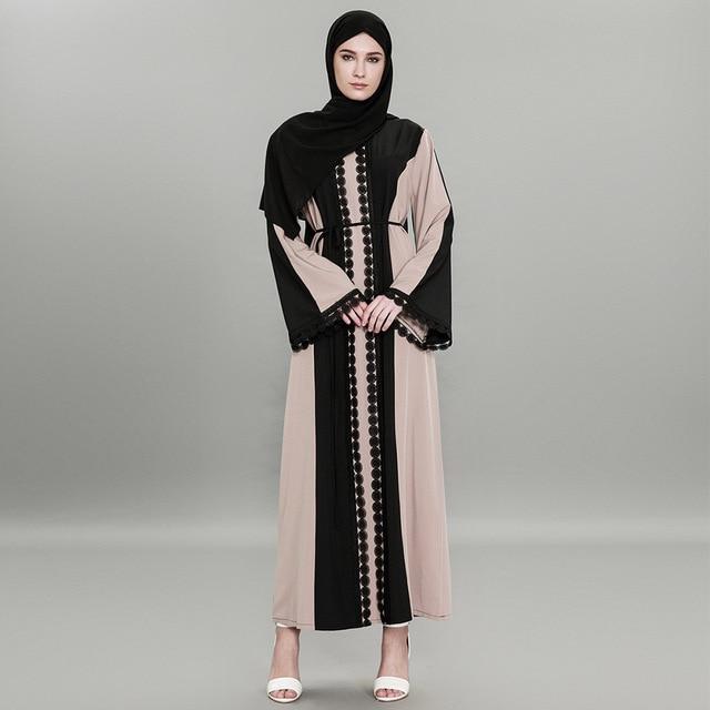 f4cf09004cc Plus Size Abaya Muslim Dress 2018 Women Islamic Arabic Abayas Long Sleeve  Dress Moslem Pakistani Dubai Islamic Dresses for Women