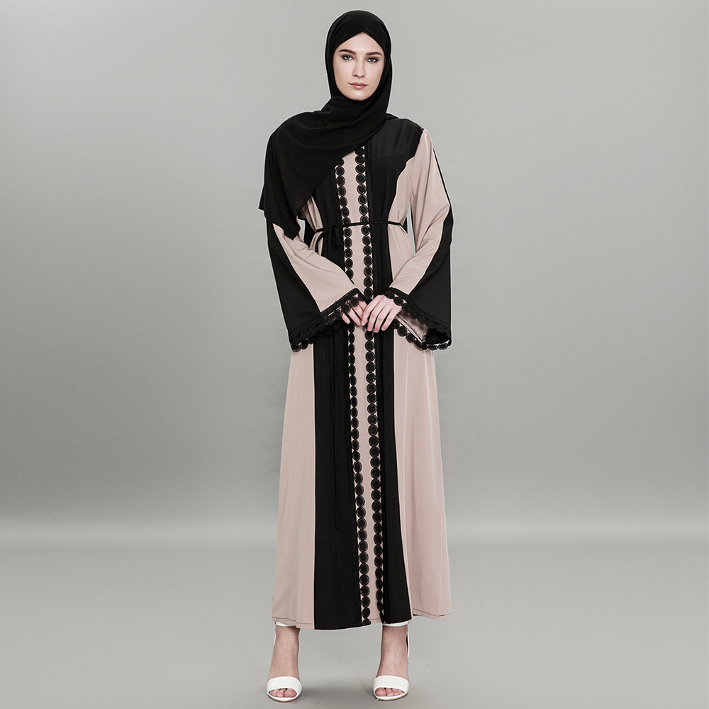 Plus Size Abaya Muslim Dress 2018 Women Islamic Arabic Abayas Long Sleeve Dress Moslem Pakistani Dubai Islamic Dresses for Women