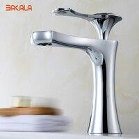 BAKALA Bathroom Basin Faucets Modern Europe Basin Mixer Faucets Bathroom Product Water Tap Hot And Clod
