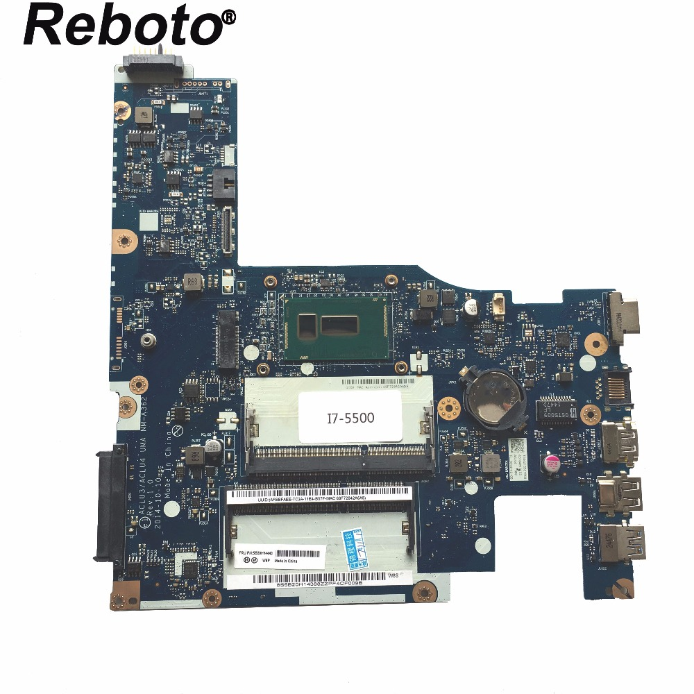 Reboto 5B20H14443 For Lenovo G50 80 Laptop Motherboard With SR23W I7 5500U 2 40GHz CPU ACLU3