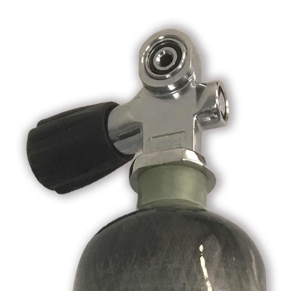 AC951 HPA 4500PSI 300BAR نير الغوص صمام استخدام مركب ألياف الكربون الهواء خزان قطرة الشحن