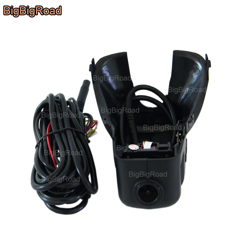 BigBigRoad For volvo s60 / S60L / S80 / S80L V60 2011 2012 2013-2017 Car Video Recorder Black Box Wifi DVR Dash Cam FHD 1080P bigbigroad for geely king kong mk ck panda lc englon c5 car wifi dvr video recorder fhd 1080p g sensor dash cam car black box