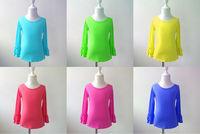 hot girls blank shirt top baby kids girls originals clothing fashion toddler infant fall ruffle long sleeve children t shirts