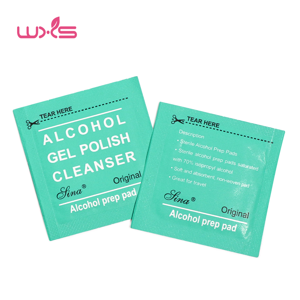 100Pcs Nail Cleaner Wipes Alcohol Napkins Nail Remover Wipes Deep ...