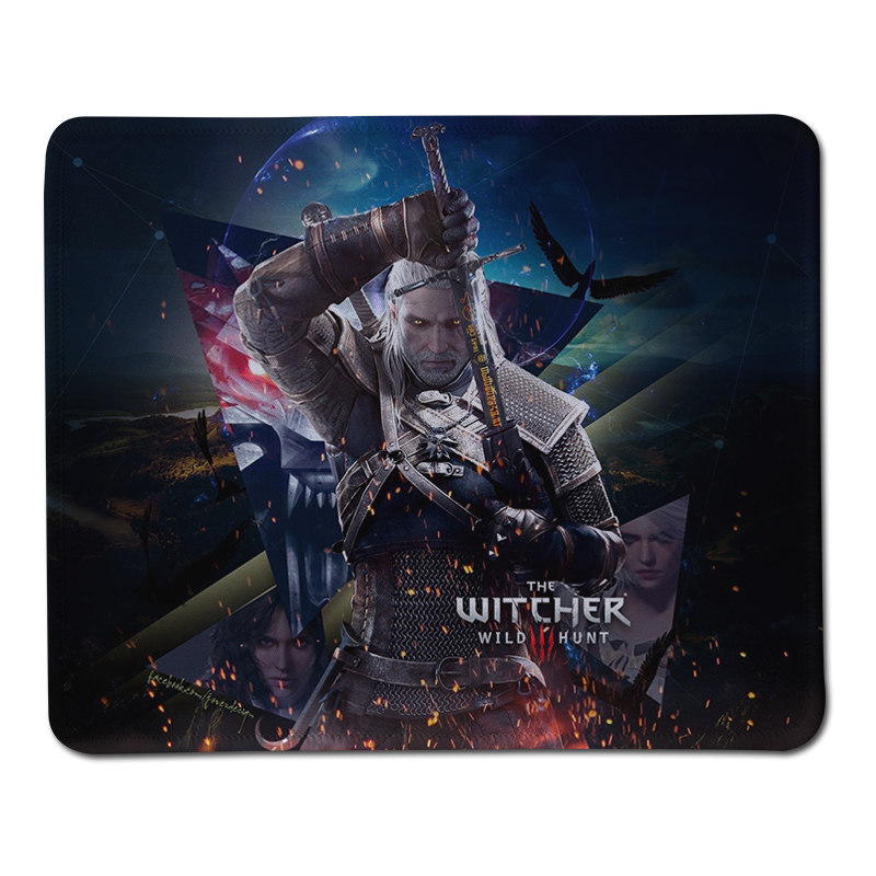 WITCHER 3 Mouse Pad Computer Mousepad WITCHER Logo Large Gaming Mouse Mats To Mouse Gamer Anime Rectangular Mouse Pad