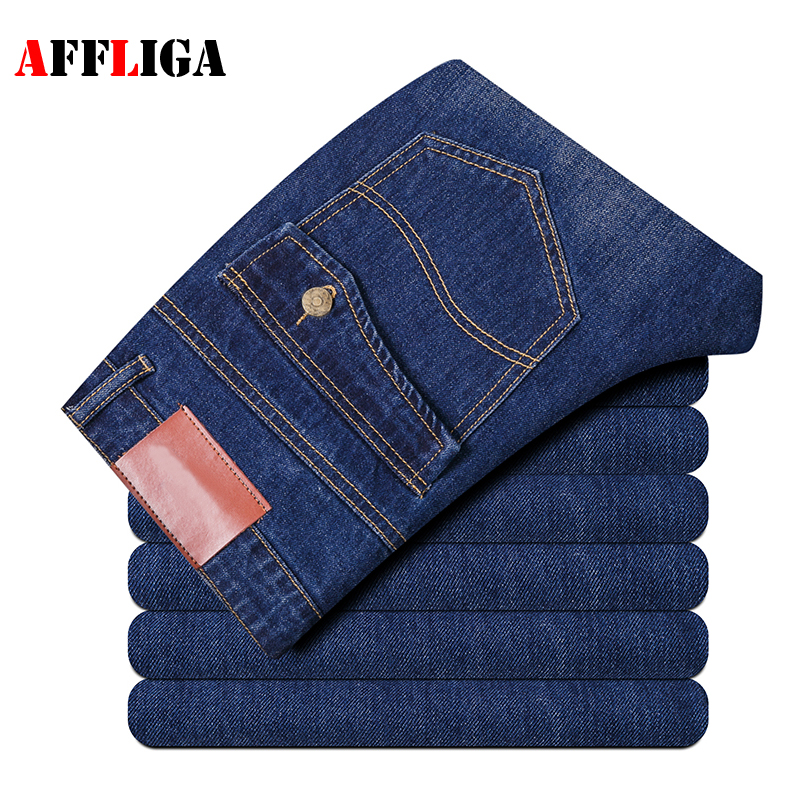 Men Jeans High Quality Famous Brand Straight Slim Fit biker Mens Jeans Homme Classic Casual Pants Multi Pocket Long Trousers  2017 high quality mens black jeans slim distressed jeans men new designer famous brand biker jeans plus size k709