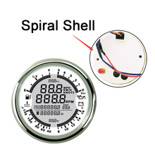 New Spiral GPS speedometers tachometers fuel gauges 0-5bar oil pressure meters 8-16v volt meter 40-120 water temp 6 in 1