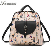 K8964 Multi use High quality PU Leather Mochila Escolar School Bags For Teenagers Girls Top handle
