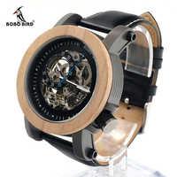 ใหม่ยี่ห้อ BOBO BIRD นาฬิกาผู้ชายนาฬิกาหนังแท้นาฬิกาข้อมือไม้นาฬิกาข้อมือ relogios masculinos B-K14