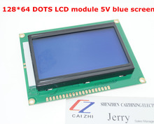Free shipping 12864 128×64 Dots Graphic Blue Color Backlight LCD Display Module for arduino raspberry pi