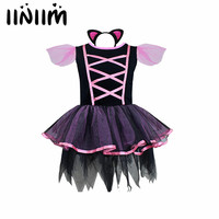 2018 Girls Tutu Party Ballet Dress With Headband Halloween Cosplay Costume Dancewear Gymnastic Ballet Leotard Dancing