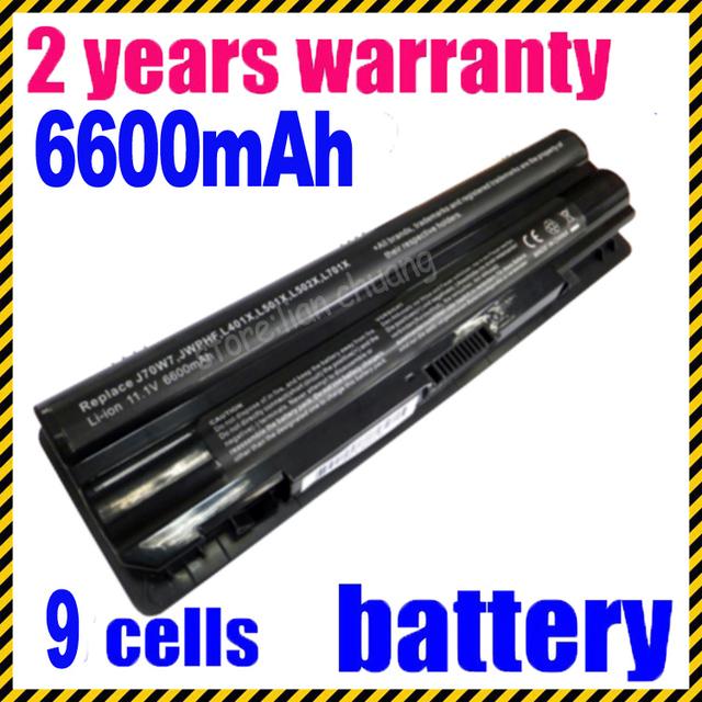 Batería del ordenador portátil para dell xps xps xps l501x l402x jigu xps l701x xps l702x l502x 12-1123 312-1127 j70w7 jwphf r795x WHXY3
