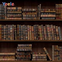 Yeele Vinyl Old Wood Bookshelf Book Children Baby Birthday Party photograph Backdrop Wedding Photocall Background Photo Studio