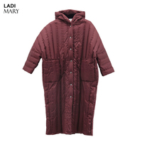 LADIMARY Winter White Duck Down Jacket Women Long Coat Parkas Thickening Female Warm Solid Clothes High Quality Y16066