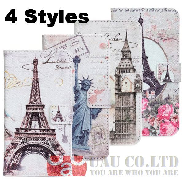 Paris Eiffel Tower Statue Liberty Wallet Phone cases Samsung Galaxy S3 i9300 leather Card Holder Flip cover - UAU(Shenzhen store Trading Co.,Ltd)