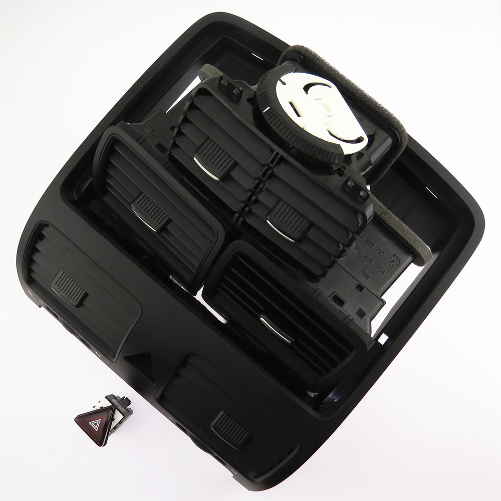 SCJYRXS Conditioning Outlet Vent Front Rear Left Right + Warning Switch For Golf MK5 Rabbit 1KD819728 1KD819203 18G953509