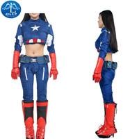 2017 Cosplay Costume Superhero Roleplay Captain America Women S Jacket Cosplay Custom Made Free Shipment