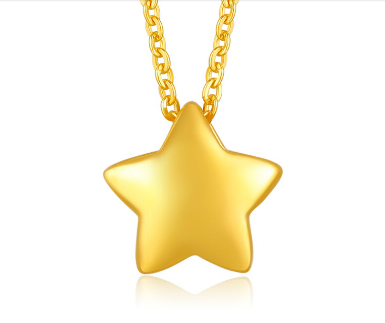 Pure 3D 999 24K Yellow gold Star Pendant 0.4g