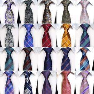 Image 2 - Wholesale (20 pieces / Lot ) Classic 100% Silk Mens Ties Neck Ties 8cm Paisley Ties for Men Business Wedding Party Gravatas